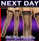 FANCY DRESS STOCKINGS # BLACK STOCKINGS - BLACK BOW
